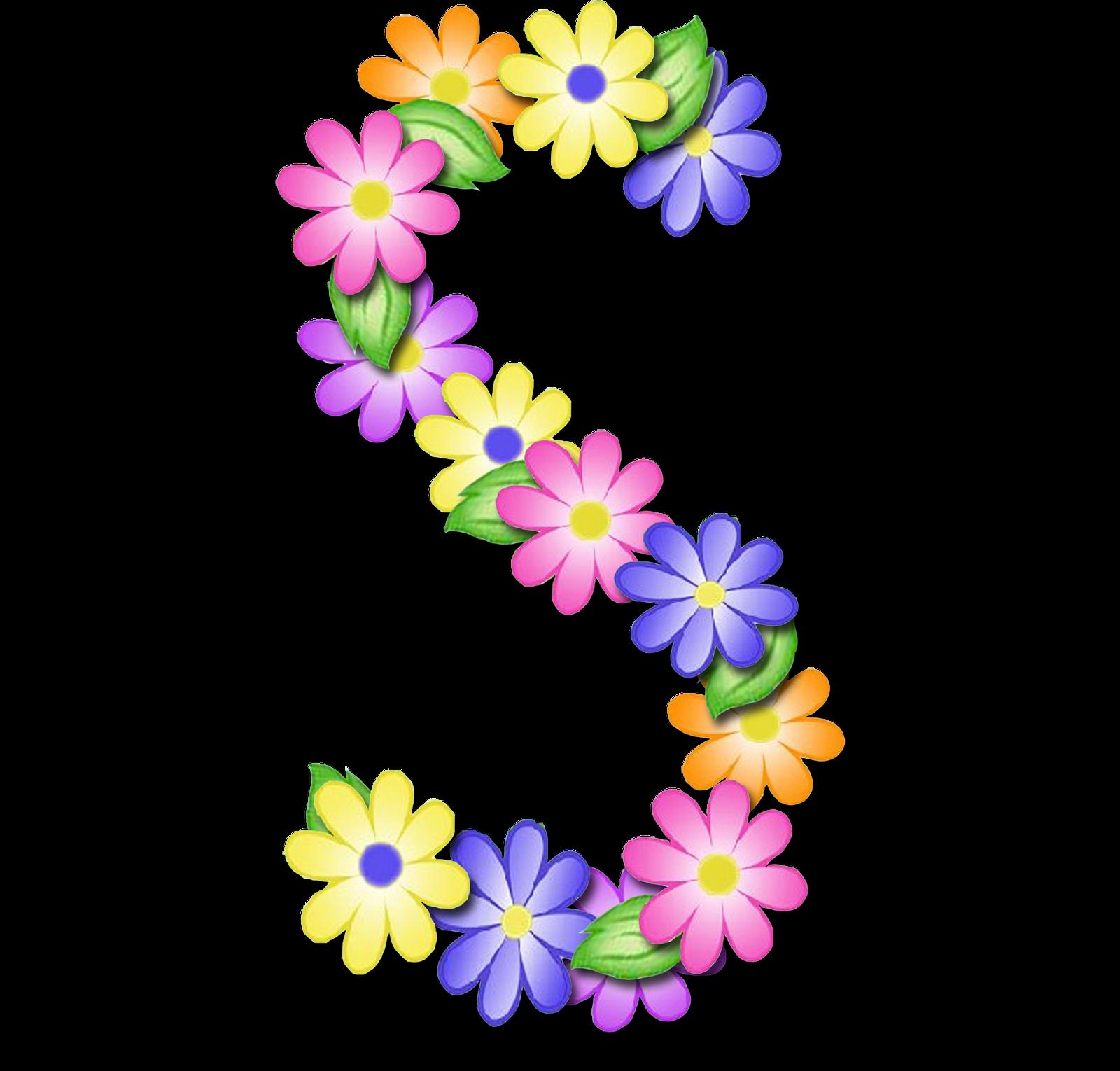 صور الحروف الإنجليزية بأجمل الزهور والورود بخلفية شفافة بنج png وجودة عالية للمصممين :: إبحث عن حروف إسمك بالإنجليزية - صفحة 2 S